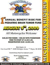 X Riders Benefit Ride For Pedeatric Brain Tumor Fund