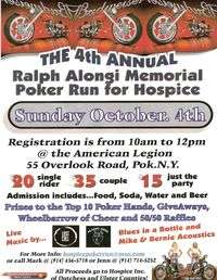 Ralph Alongi Memorial Poker Run For Hospice