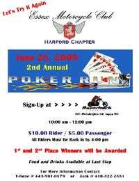 Essex Motorcycle Club Harford Chapter Poker Run