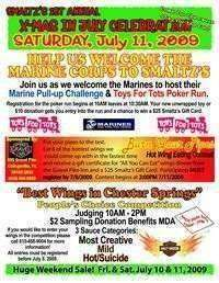 Toys For Tots Christmas In July Celebration and Wing Cook Off