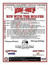 Run With The Wolves Poker Run And Fundraiser - 2nd Annual