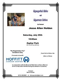 Memorial Ride Marrow Drive And Cookout To Honor Jesse Allen Holden