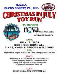 Baca Bucks County Christmas In July Toy Run