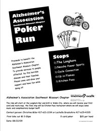 Alzheimers Association Southwest Missouri Chapter Poker Run