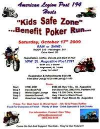 American Legions Kids Safe Zone Benefit Poker Run