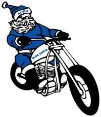 Alvin Blue Santa Motorcycle Ride