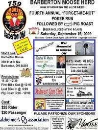 Forget Me Not Alzheimers Poker Run - 4th Annual