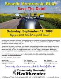 Benefit Motorcycle Ride