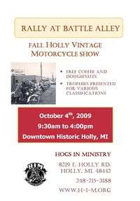 Rally At Battle Alley Fall Vintage Motorcycle Show