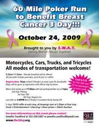 Poker Run To Benefit Breast Cancer