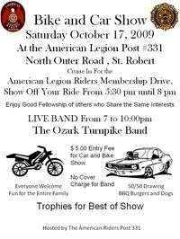 American Legion Riders Bike And Car Show