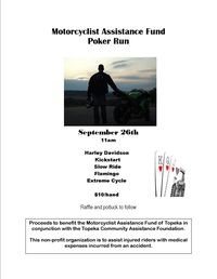 Motorcyclist Assistance Fund Charity Poker Run