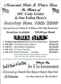 Memorial Ride and Poker Run For Cody Grater and Fallen Soldiers