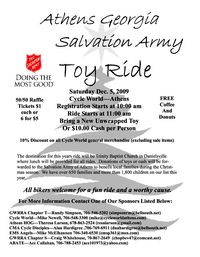 Salvation Army Toy Ride