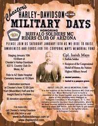 Chesters Harley-davidson Military Days Honoring The Buffalo Soldiers Mc Club Of Az