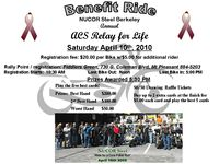 Nucor Steel Berkeley Relay For Life Benefit Ride