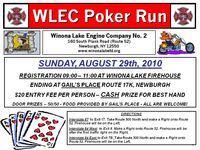 Winona Lake Fire Dpartment Poker Run