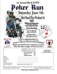 Elks and Paws Poker Run
