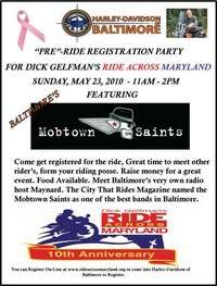 Ride Across Maryland Registration Party