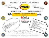 Midas Support Our Troops Car Show With Motorcycle Ride