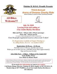 Arena Of Dreams Charity Ride - 3rd Annual