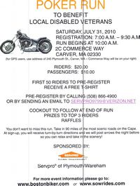 Poker Run To Benefit Local Disabled Veterans