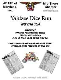 Yahtzee Dice Run