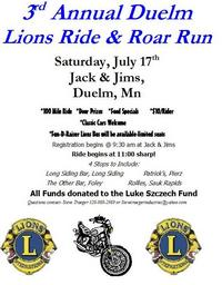 Duelm Lions Ride and Roar Run - 3rd Annual