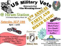 Us Military Vets MC Party And Biker Bash - 5th Annual