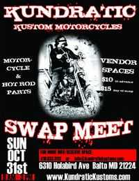 Kundratic Kustom Motorcycles Swap Meet