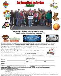 Just Jes Toy Run Fundraiser Oct - 3rd Annual