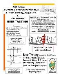 Covered Bridge Poker Run And Bier Tasting - 14th Annual