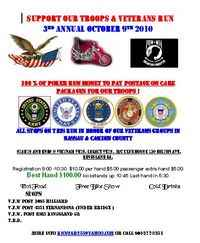 Support Our Troops and Veterans Run - 3rd Annual