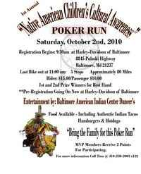 Poker Run For The Native American Childrens Cultrual Center