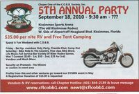 Crippled Old Biker Brothers Society Party Party Of The Year - 5th Annual