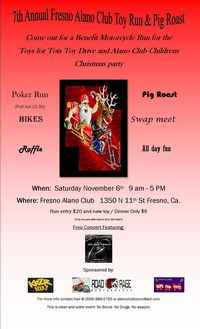 Alano Club Toy Run And Pig Roast - 7th Annual