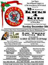 Kick 4 Kids Toy Run And Law Tigers Trivia Ride - 38th Annual