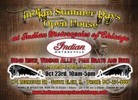 Indian Motorcycles Of Chicago Indian Summer Days Open House